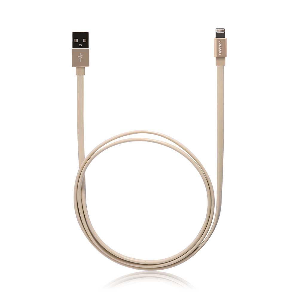 MONOCOZZI ALUMFLAT Lightning to USB 傳輸線 - 1M - 奢華金