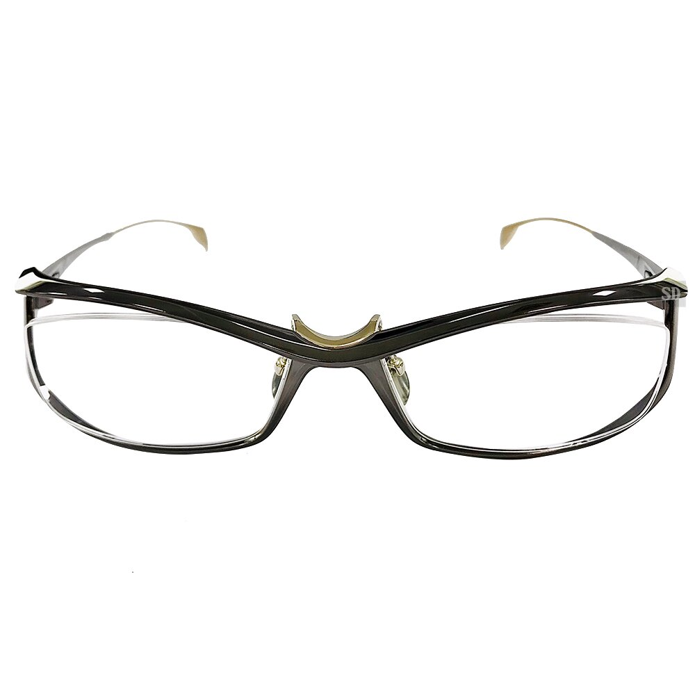 【Japonism】日本製 光學眼鏡鏡框 純鈦 限量 JN-1006 C02 長方形框鏡框眼鏡 金/棕