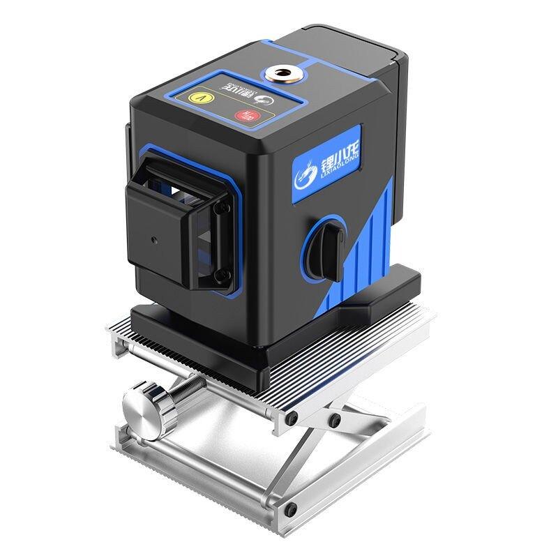 紅外線水平儀綠光12線水平儀全自動藍光高精度貼地儀貼墻儀平水儀可開發票 快速出貨