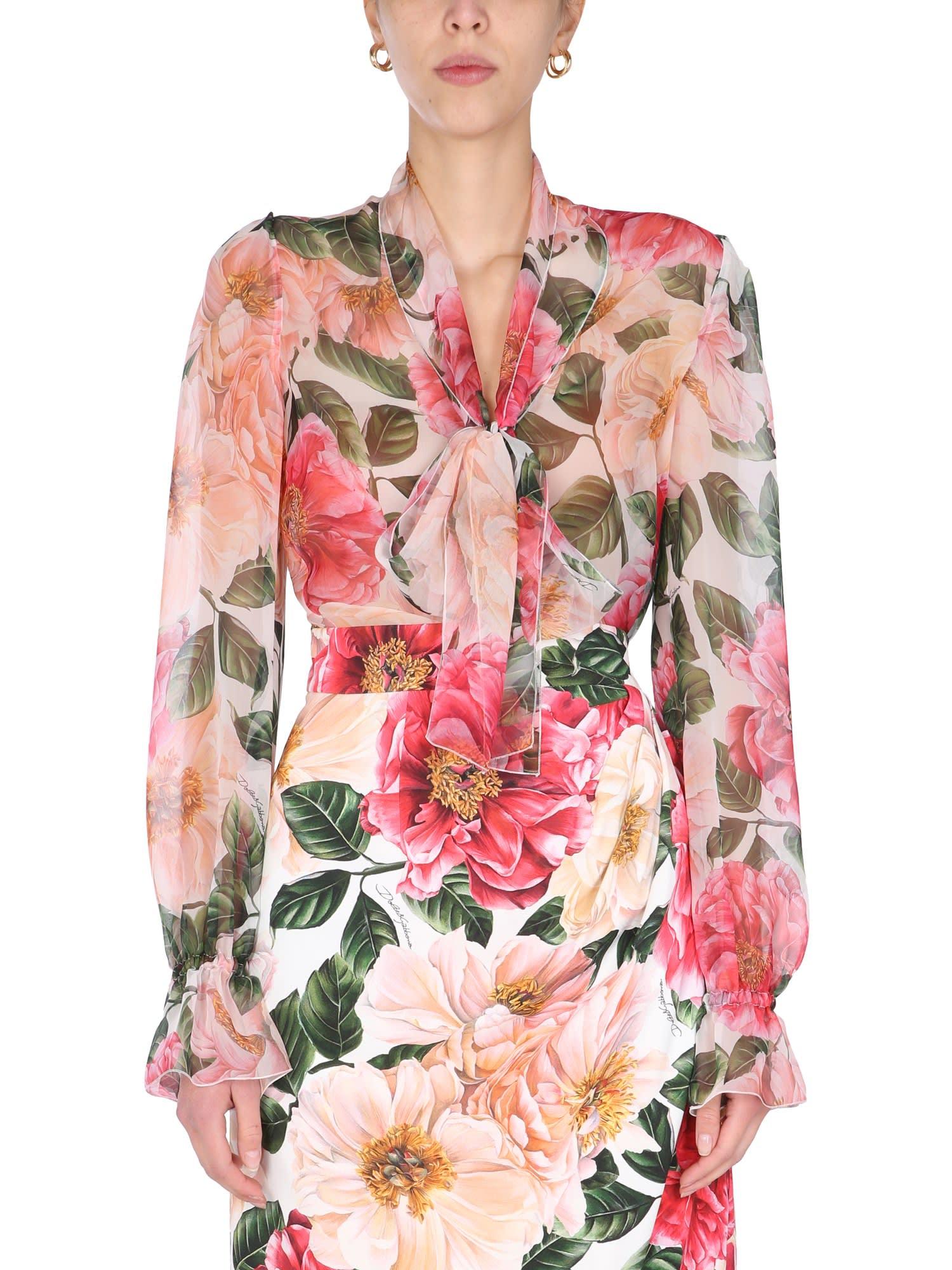Dolce & Gabbana Camellia Print Shirt