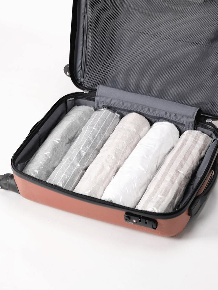 手卷真空压缩袋旅行出差衣物收纳袋便携免工具抽气真空袋