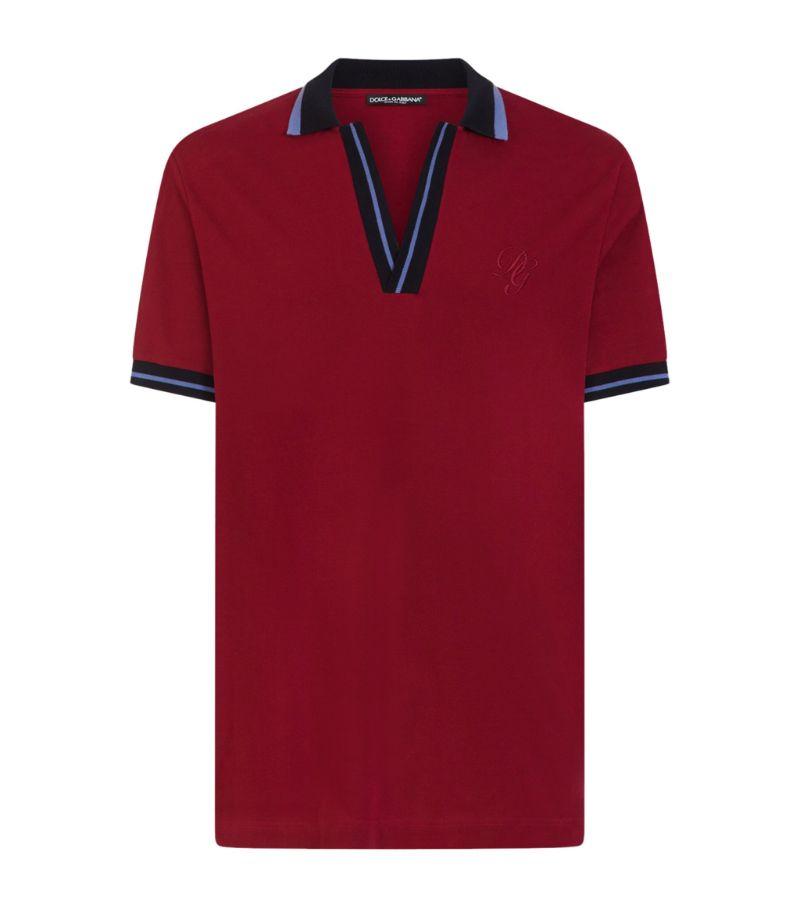 Dolce & Gabbana Open-Collar Polo Shirt