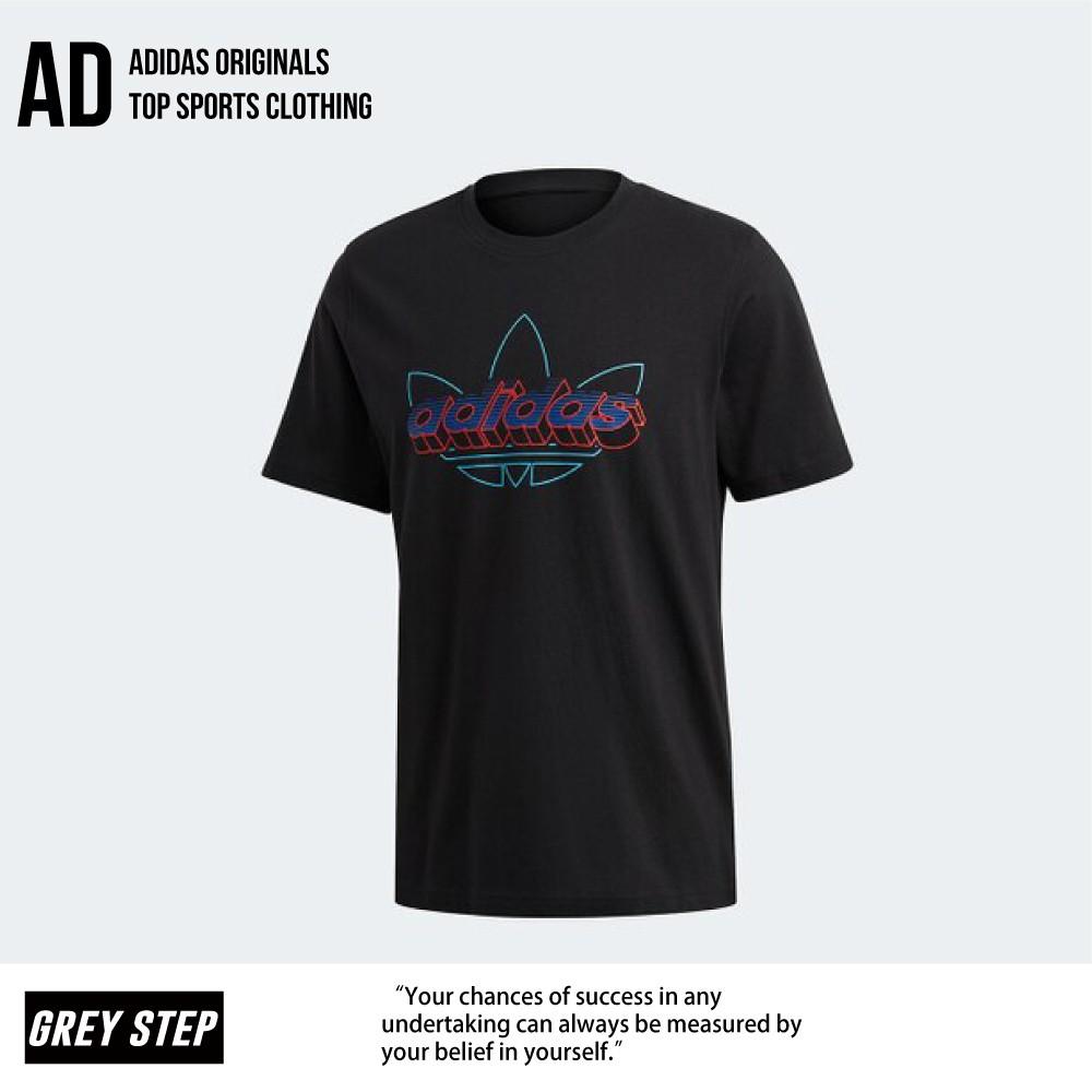 Adidas 愛迪達 三葉草 休閒短T 短袖T恤 短袖 黑色 GD6010 全新正品 統一發票