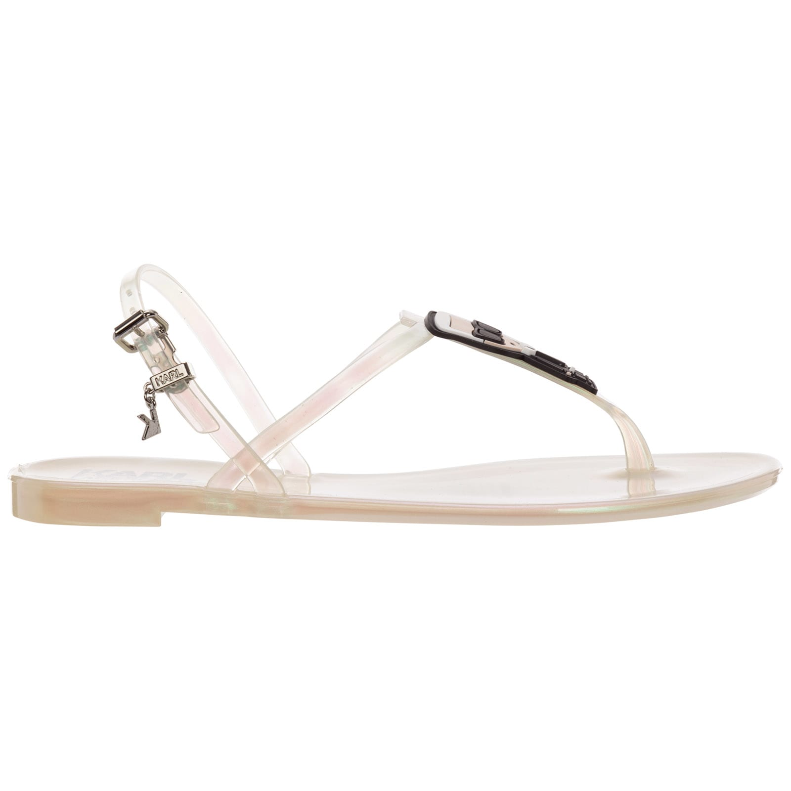 Karl Lagerfeld Jelly T-bar Sandals