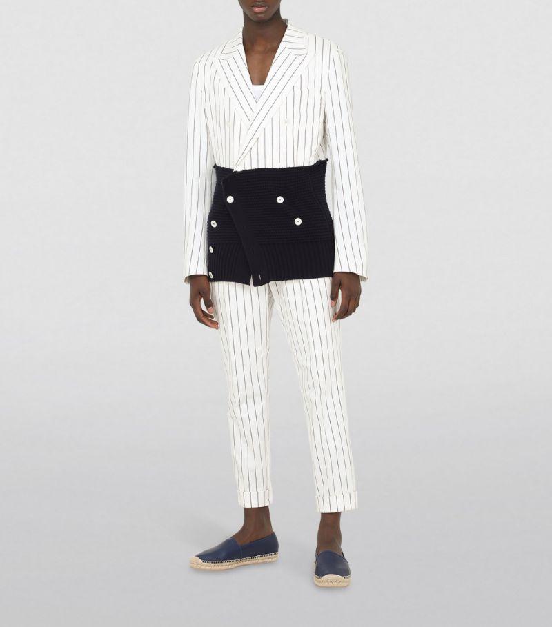 Dolce & Gabbana Cotton-Blend Striped Trousers