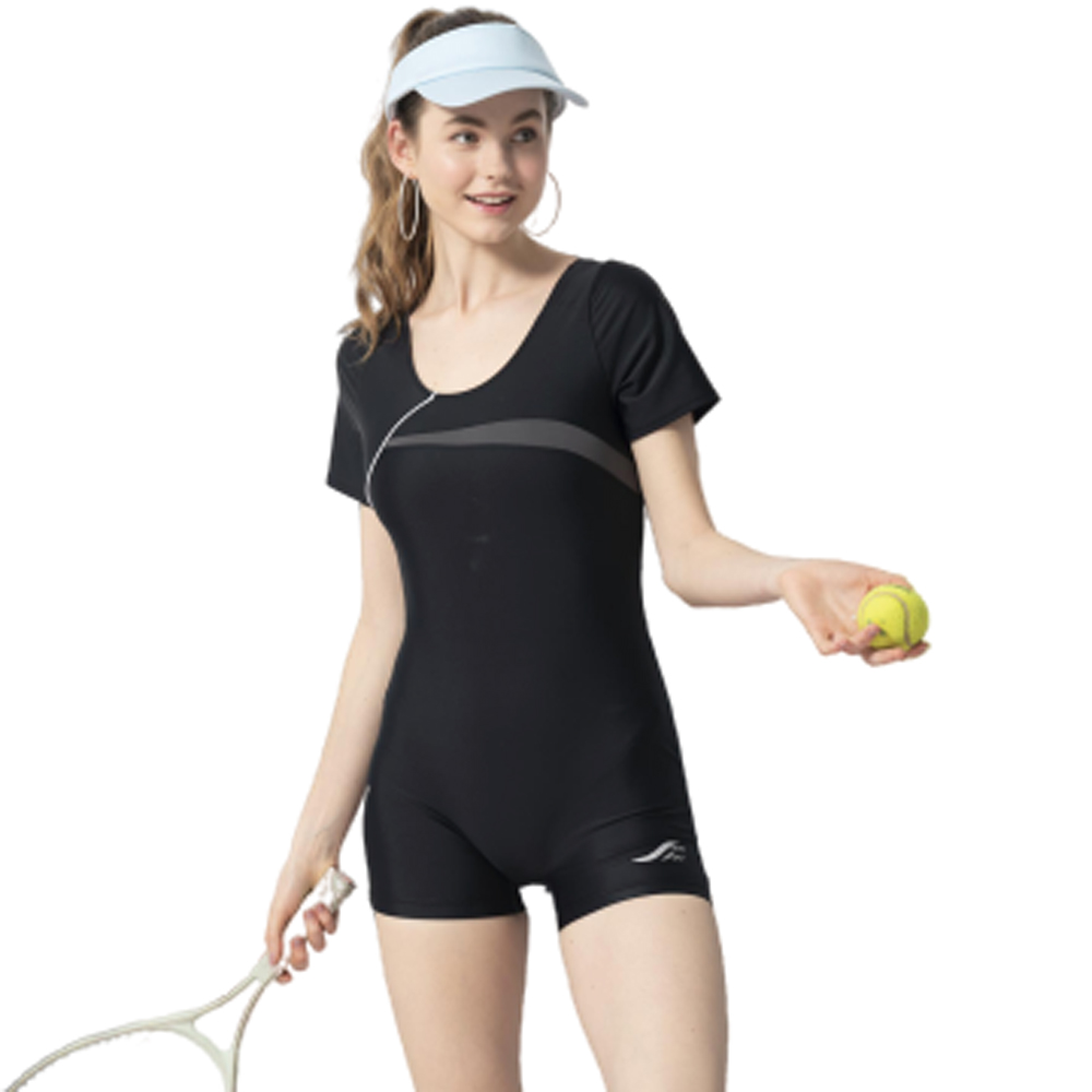 【SAIN SOU】連身四角泳裝附泳帽A952006