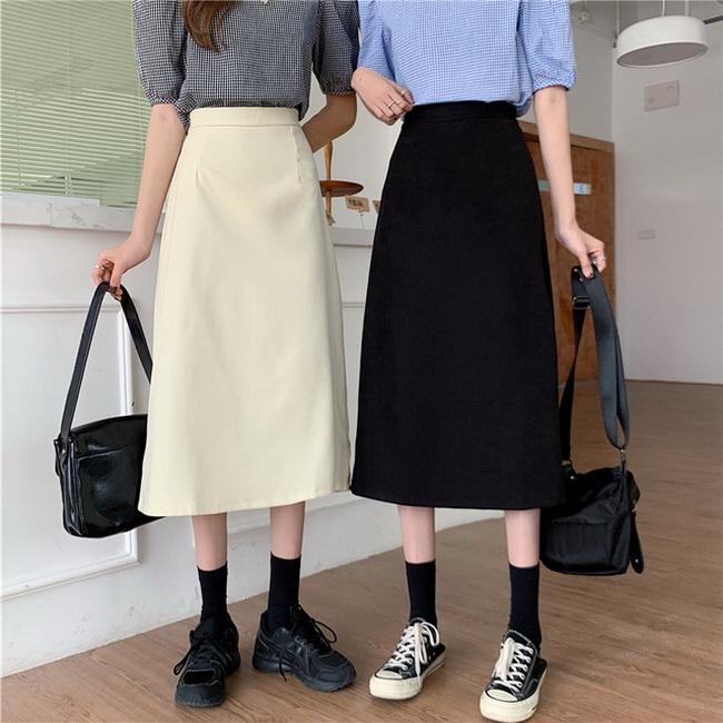 FOFU-半身裙女高腰遮跨包臀a字裙時尚【08SG06978】
