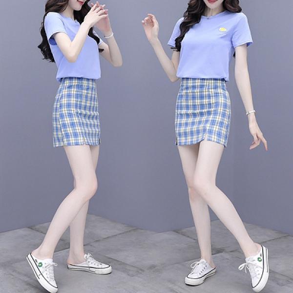 套裝~連衣裙女套裝裙很仙的法國小眾小香風兩件套裙N2F-C11-E胖妞衣櫥
