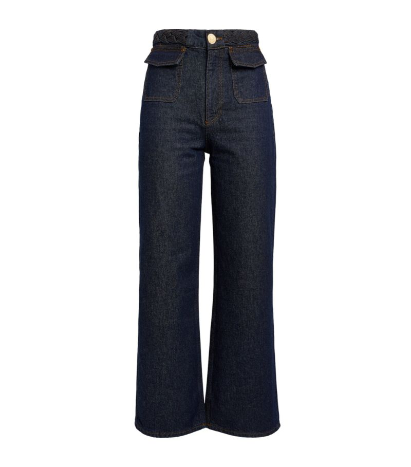 Sandro Paris Wide-Leg Jeans