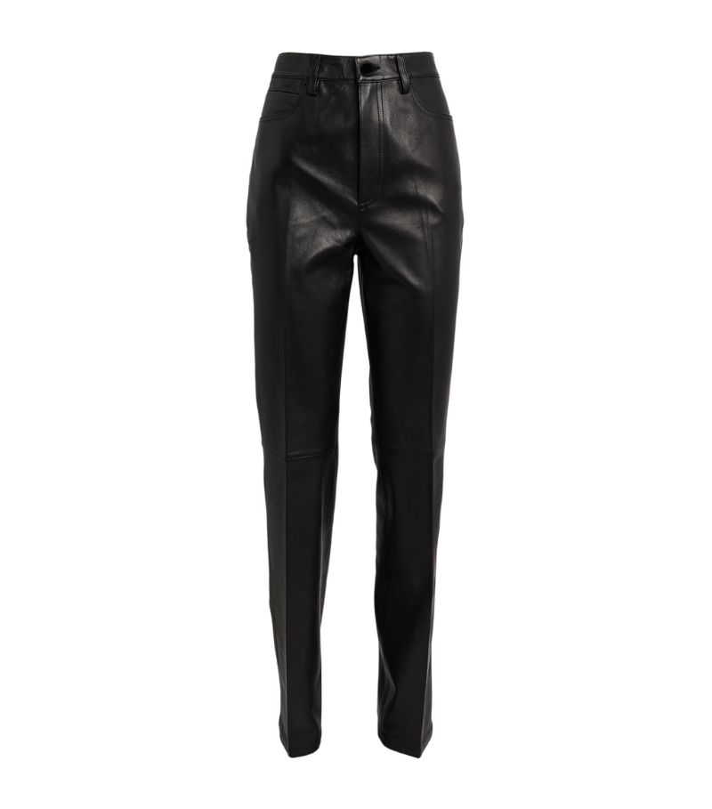Alexander Wang Leather High-Rise Trousers