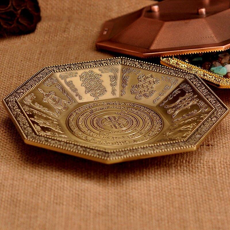 殊勝焦煙解脫咒輪煙供火供專用紅銅色煙供盤火供盤 供佛果盤18cm