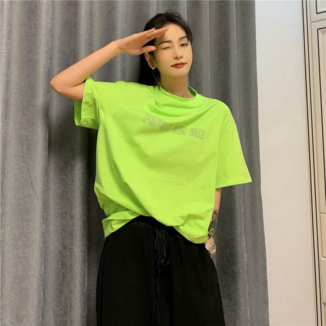 FOFU-彈性棉市場價短袖T恤印花【08SG06624】