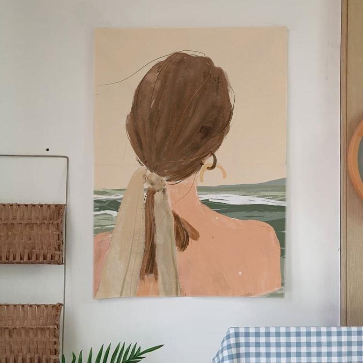 掛布ins房間布置豎版長方形掛毯背景布宿舍裝飾背景牆出租房牆布