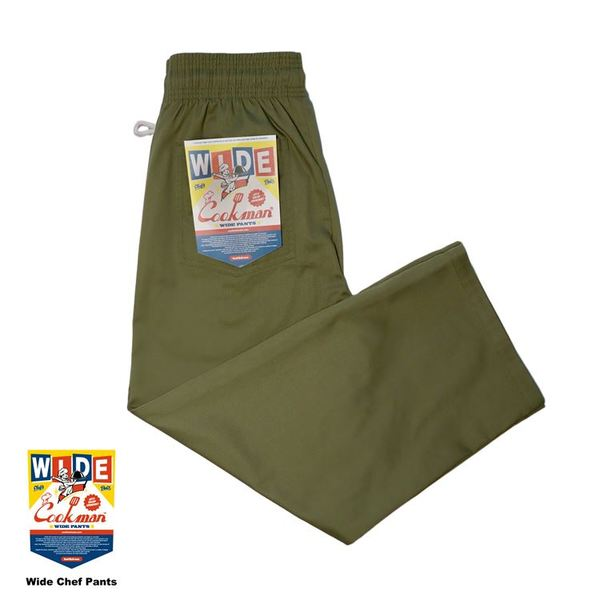Cookman USA 231-11937 Wide Chef Pants 寬版 廚師長褲 / 休閒長褲 (軍綠)