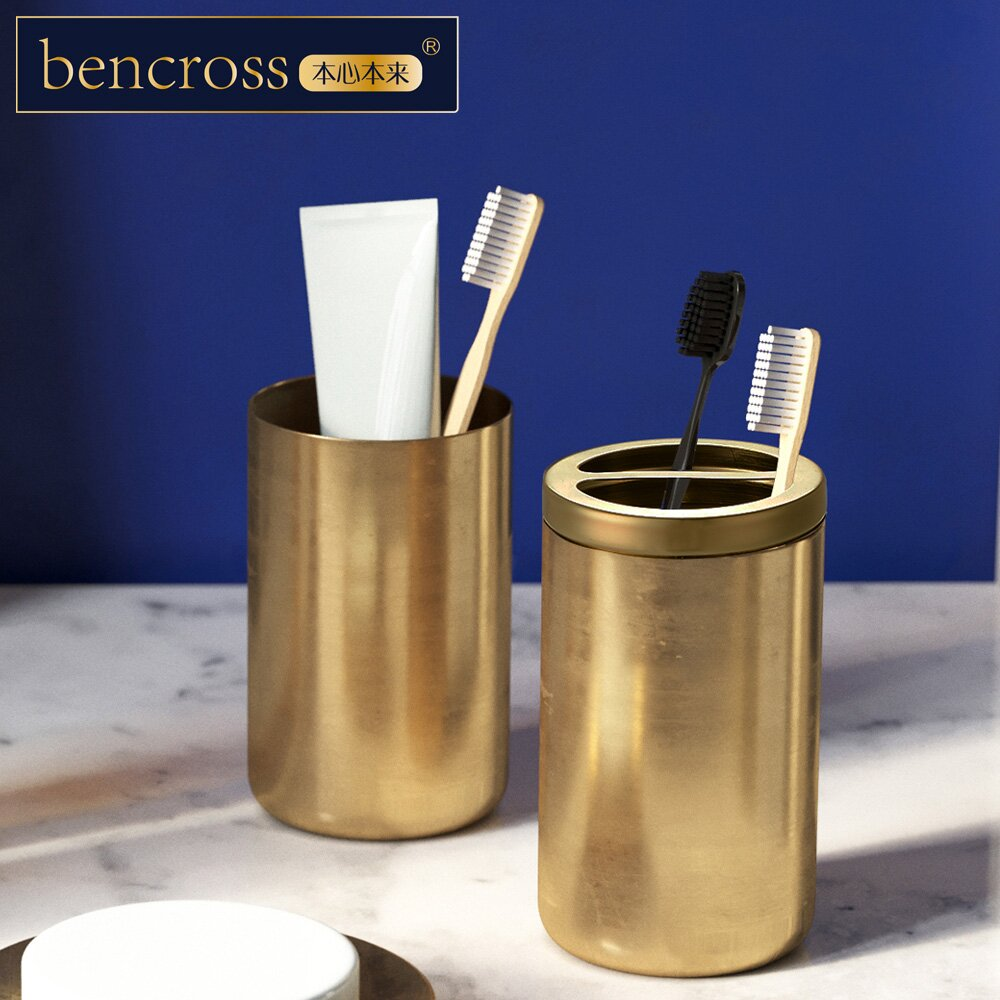 bencross本心本來|不鏽鋼漱口杯-亮金色