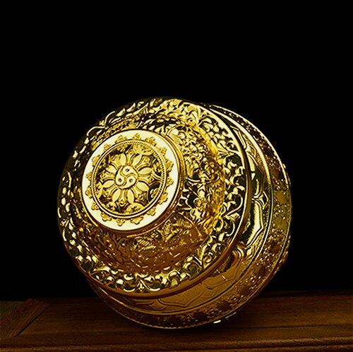 藏傳 鍍金合金如意寶瓶 佛教用品八吉祥寶瓶  財源茂盛 凈瓶大號