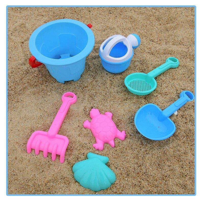 沙灘玩具 兒童沙灘玩具套裝沙子決明子玩沙工具大號挖沙鏟子和桶車男孩T