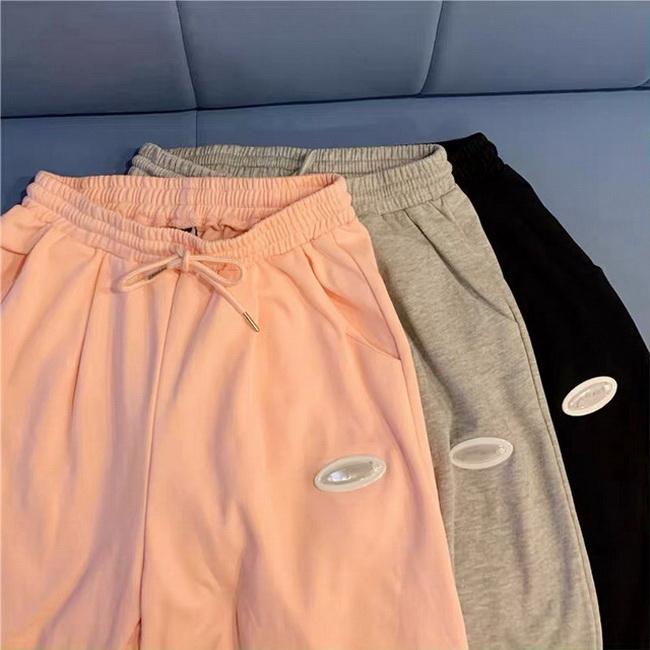 FOFU-魚鱗夏季運動顯瘦百搭直筒束腳純色休閒褲【08SG06604】