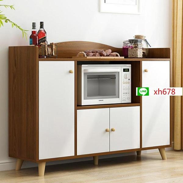 【特惠】簡約經濟型餐邊櫃多功能儲物櫃子帶門北歐簡易廚房經濟型櫃子【頁面價格是訂金價格】