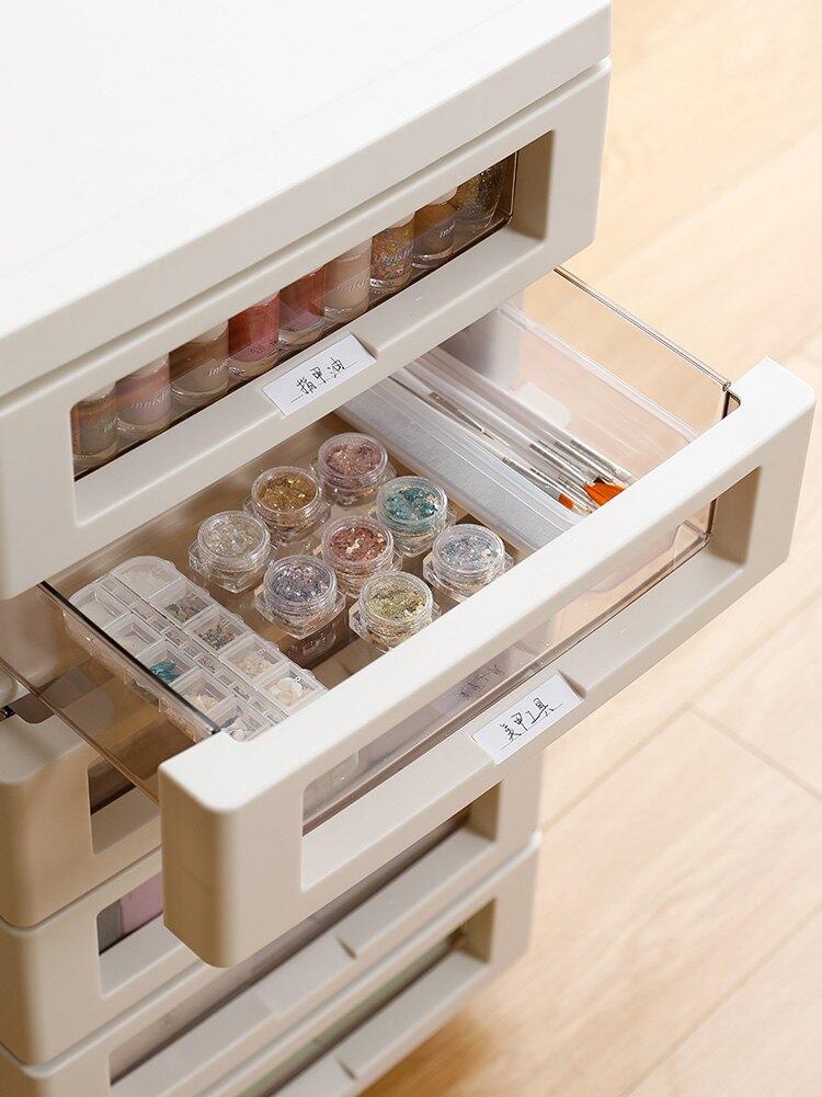 抽屉式收纳柜B4办公室文件柜手账文具储物柜化妆品整理柜