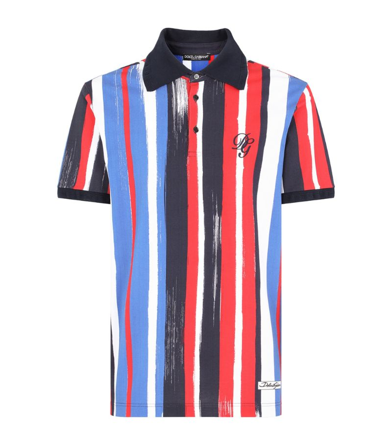 Dolce & Gabbana Brushstroke Print Polo Shirt