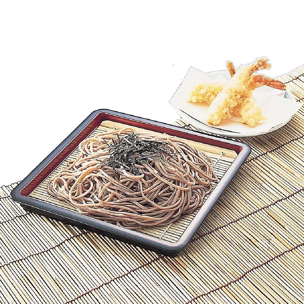 日本製造pearl方形涼麵盤(附天然竹墊)