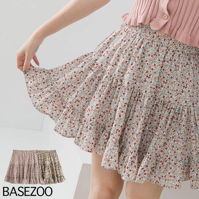 貝思奇-碎花蛋糕雪紡短裙(2色)【S660804】