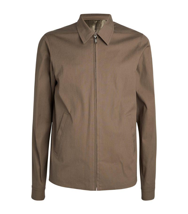 Rick Owens Zip-Up Collared Jacket