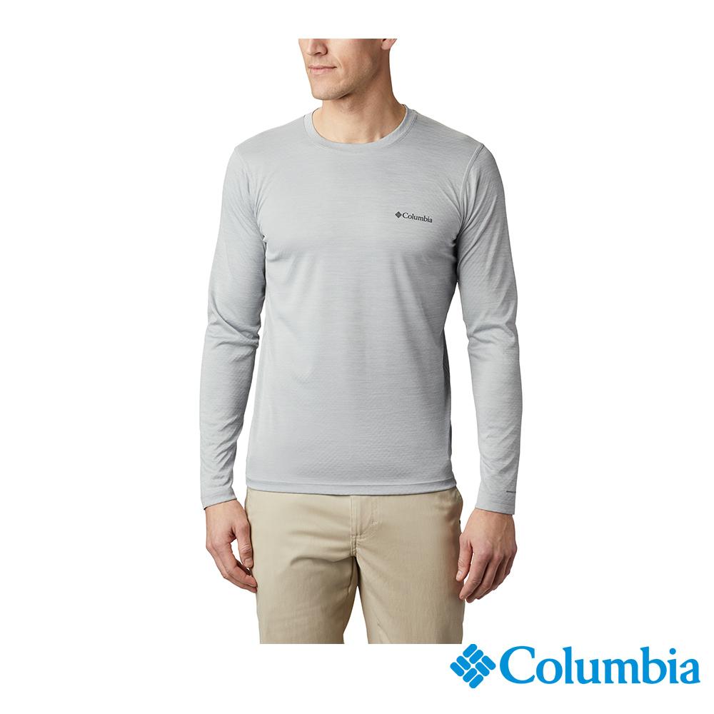 Columbia哥倫比亞 男款-UPF30涼感快排長袖上衣-灰色 UAE60830GY