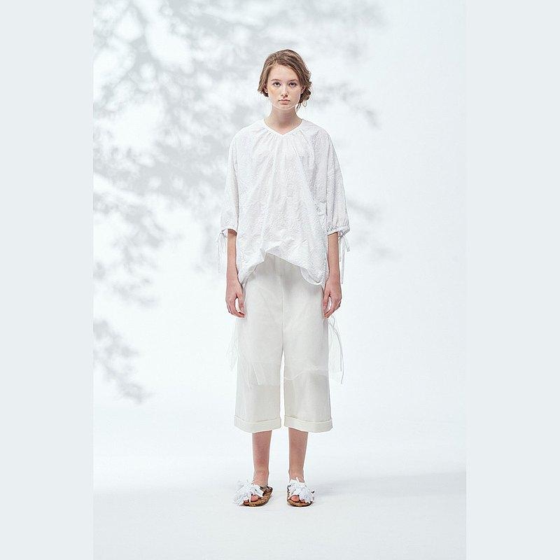 2001E22 不規則網紗造型褲