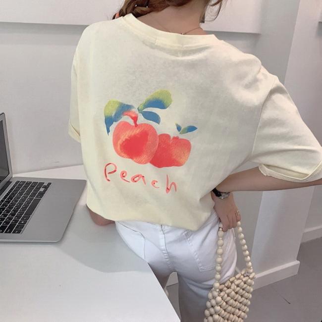 FOFU-短袖女裝上衣夏季網紅可愛日系印花短版寬鬆t恤杂志風【08SG06755】