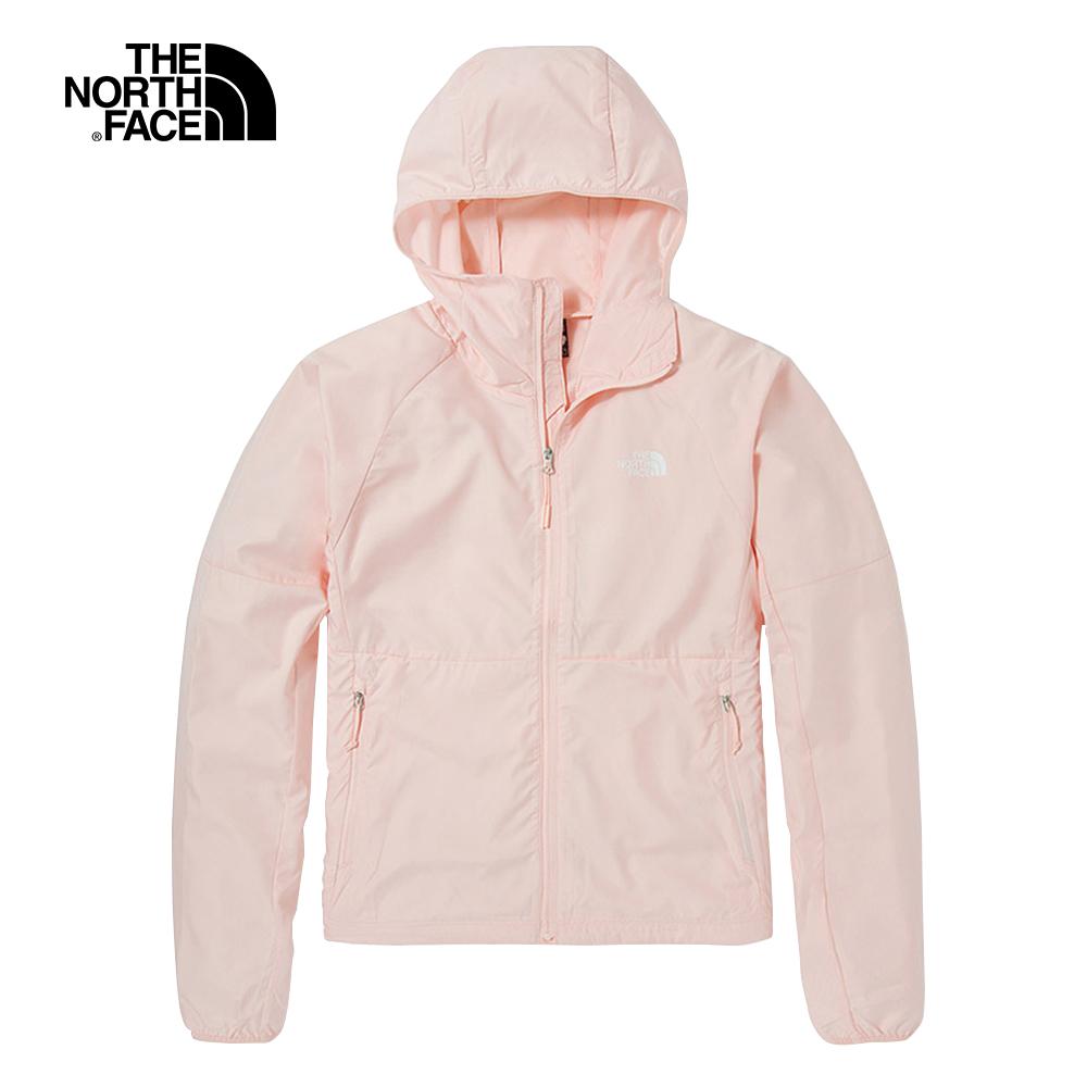 The North Face北面女款淺粉色防曬防潑水連帽防風外套|49B4WC6