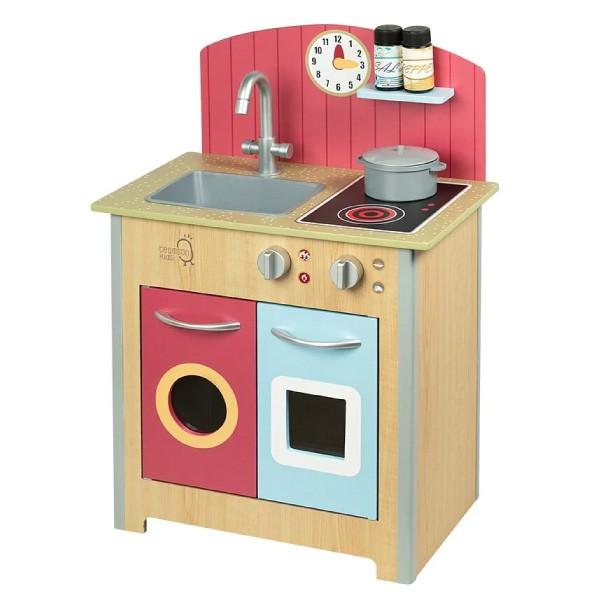 Teamson 小廚師波爾多木製家家酒玩具小廚房-木紋【麗兒采家】[加贈不銹鋼鍋具組~5/31]