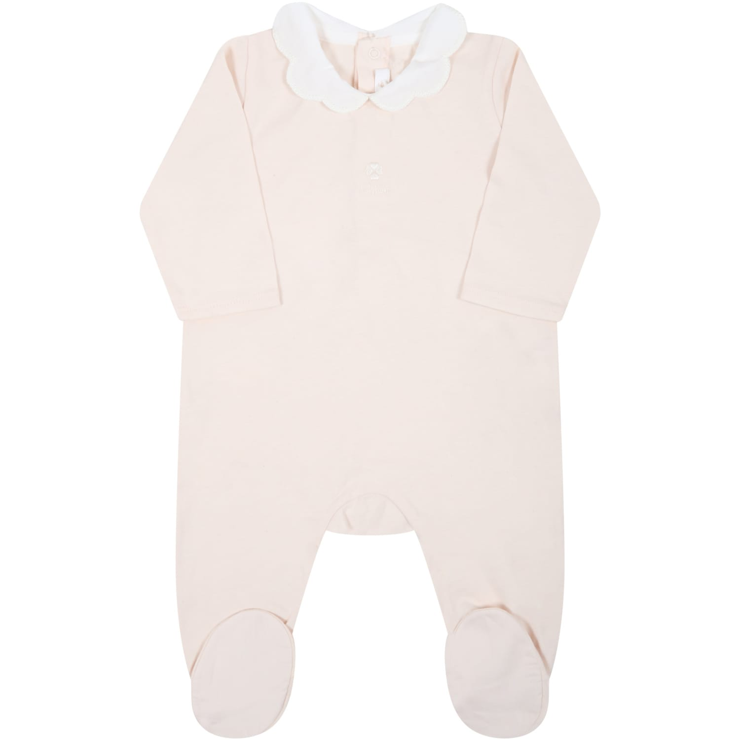 Chloé Pink Babygrow For Baby Girl With Logo