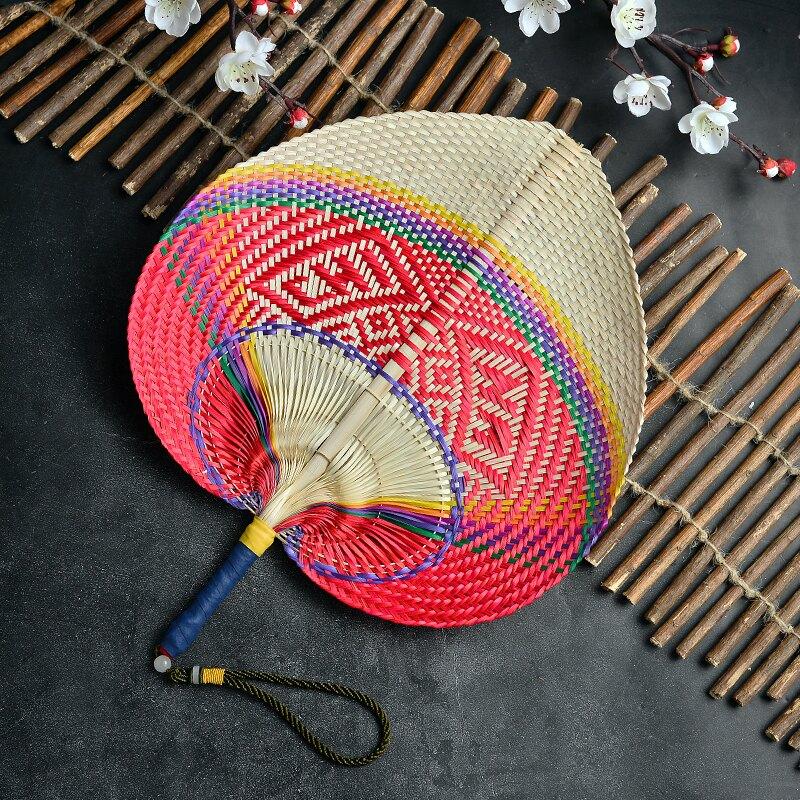 蒲扇 純手工編織竹扇子大蒲扇輕巧風大手搖扇兒童扇風驅蚊古典傳統