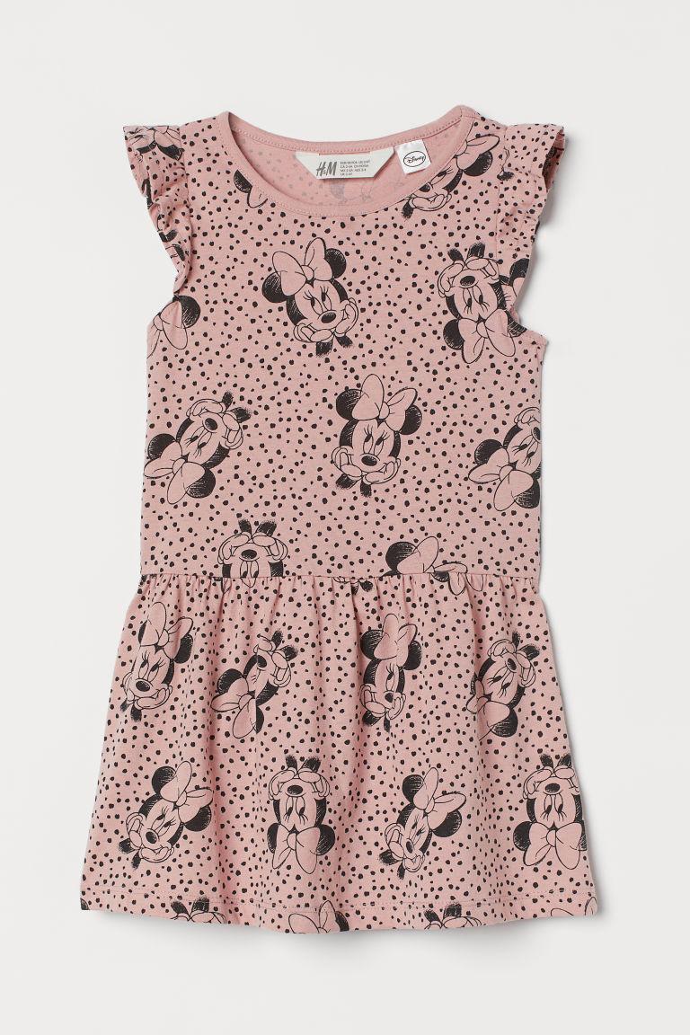 H & M - 圖案洋裝 - 粉紅色