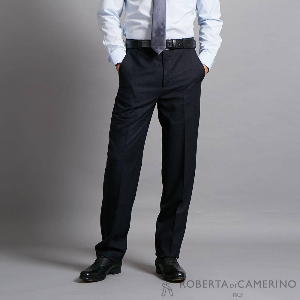 ROBERTA諾貝達 商務都會 魅力型男必備厚西裝褲 鐵黑