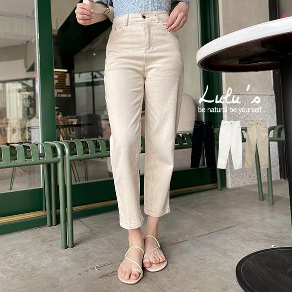 LULUS【A04210080】Y配色車線寬鬆長褲S-L3色0429