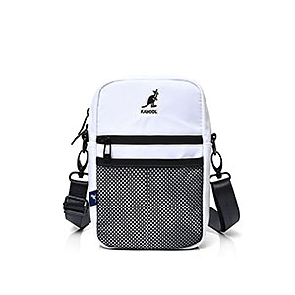 KANGOL 黑白兩色側背小包-NO.6025301300