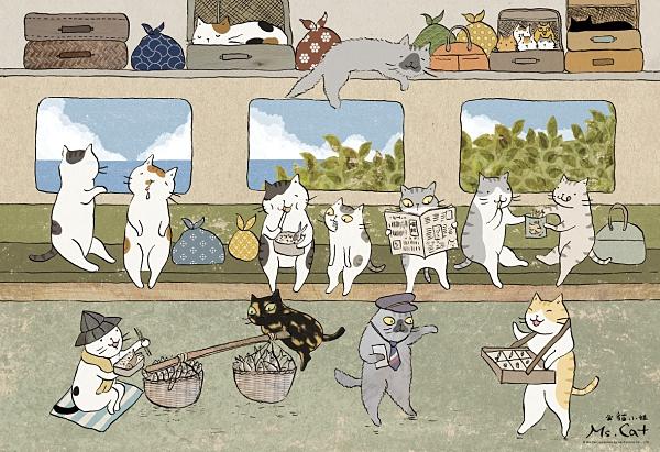 拼圖總動員 / 貓小姐 火車便當 / 300P / 貓小姐 Ms.Cat /
