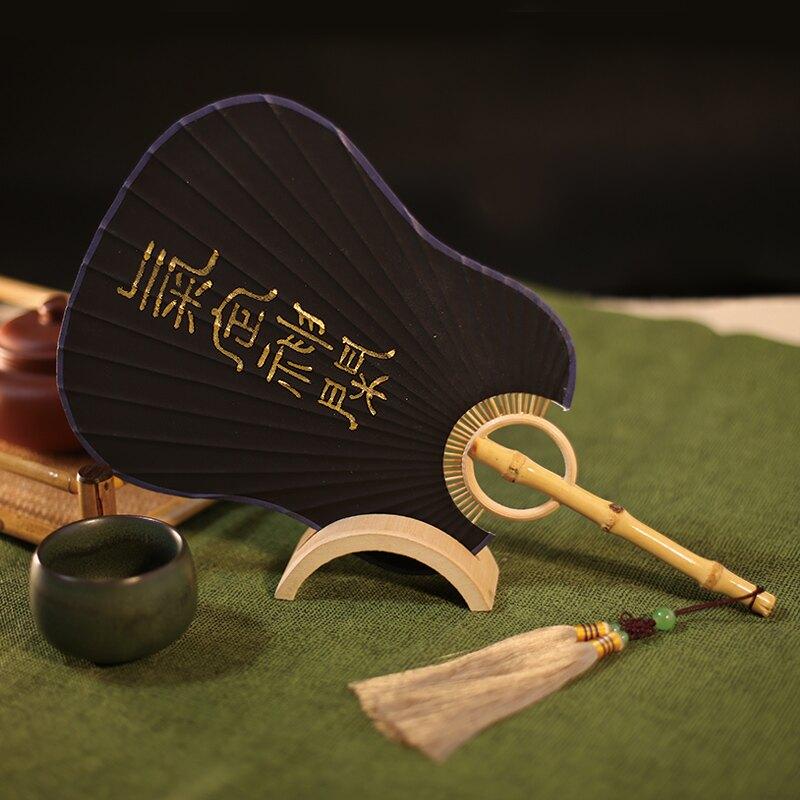 蒲扇 吉善扇子宣紙團扇書法宮扇竹柄蒲扇手繪扇中國風女扇日式和服男扇