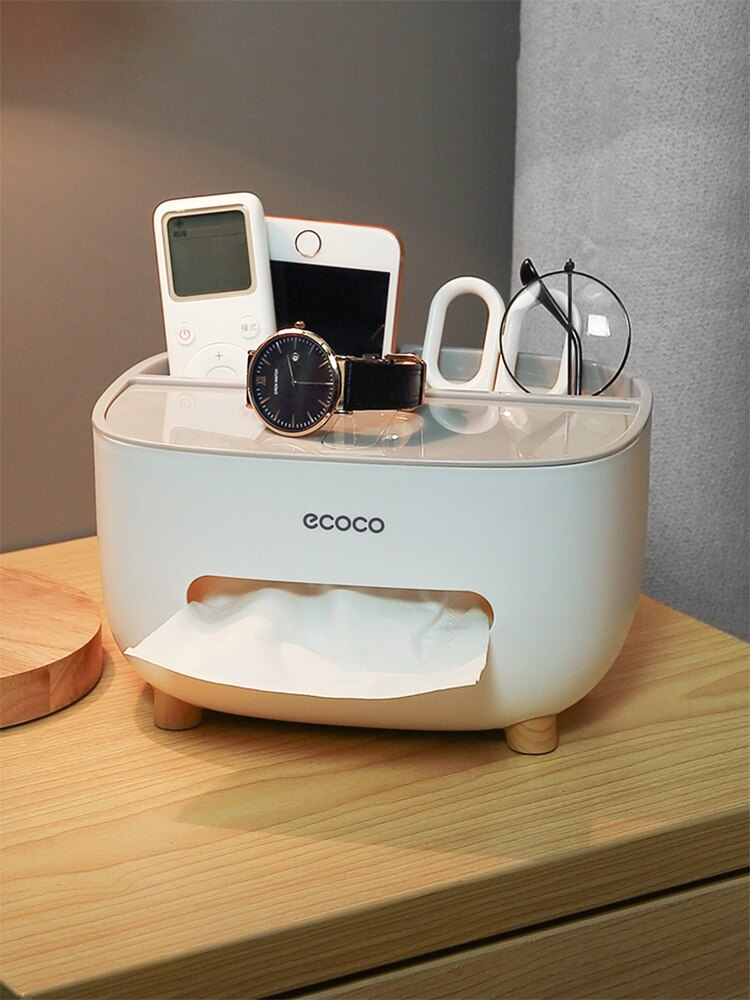 抽紙盒家用客廳茶幾餐廳創意可愛簡約輕奢多功能遙控器收納紙巾盒 7號Fashion家居館