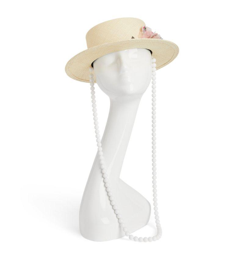Maison Michel Flower Embellished Kiki Hat