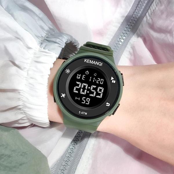 50M防水簡約電子錶多功能手錶反顯運動時尚夜光男女潮流學生新款 小天使 99免運