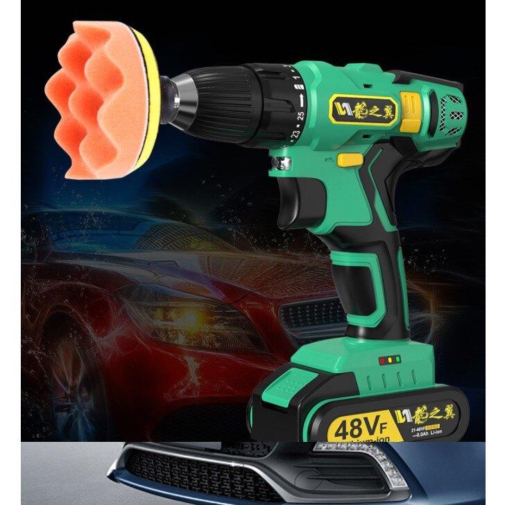 【預售7個工作天】車用打蠟機 汽車拋光機 110v充電汽車 專用打蠟機 封釉地板打蠟機美容