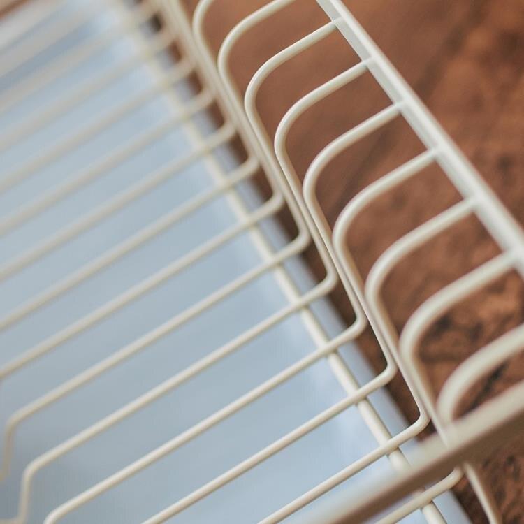 日式鐵藝盤碗架瀝水架北歐風家用廚房餐具水杯收納籃【省錢大作戰 全館85折】