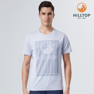【hilltop山頂鳥】男款Polygiene抗菌能量還原機能T恤S04MD7藍