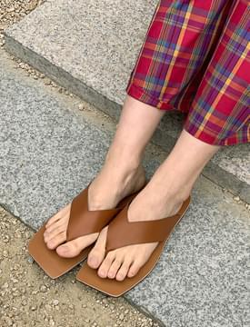 韓國空運 - Unique Square Flip Flops 涼鞋