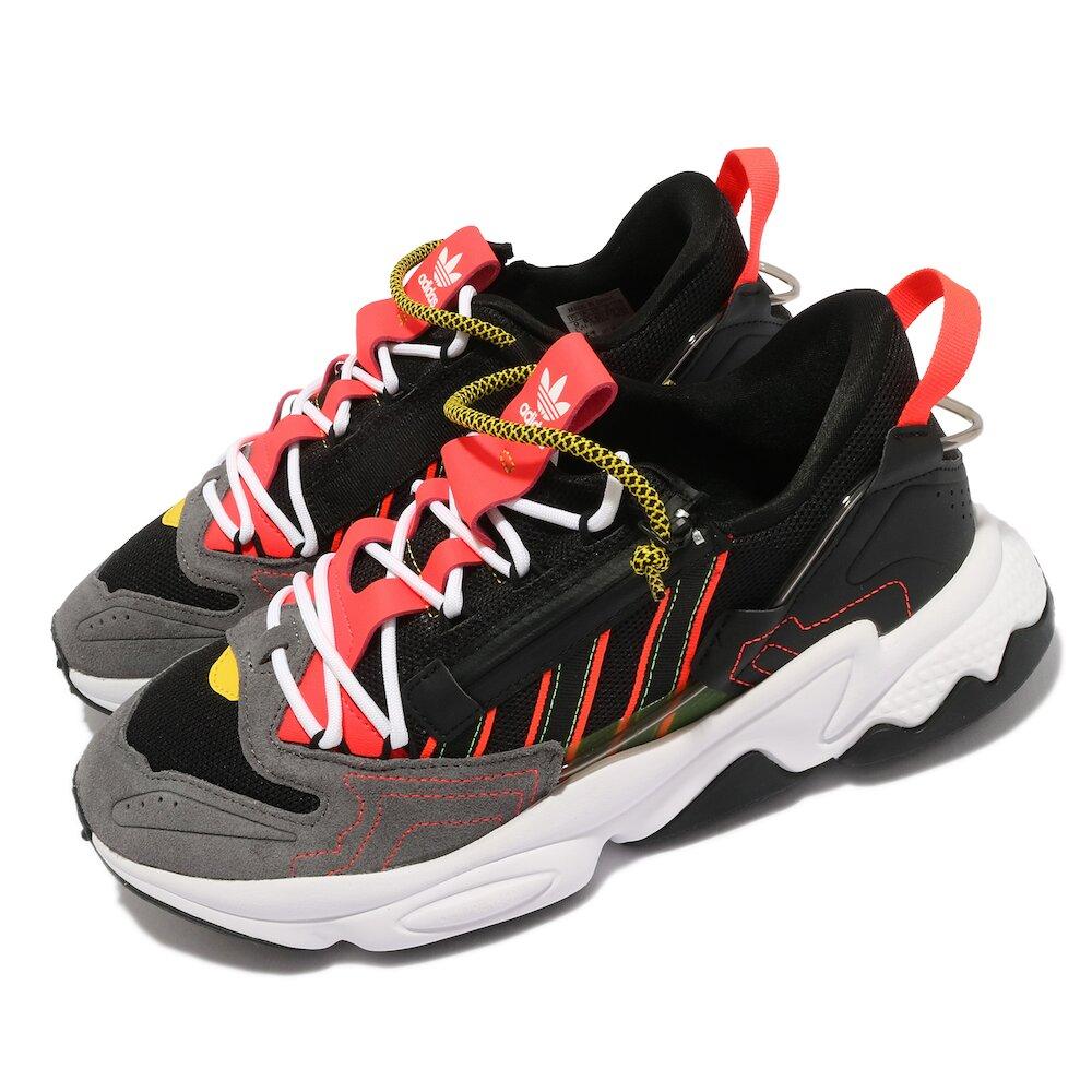 ADIDAS 休閒鞋 Ozweego ZIP 襪套 男女鞋 海外限定 愛迪達 老爹鞋 潮流 黑 紅 [H67266]