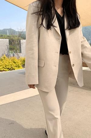 韓國空運 - Manish half linen jacket 夾克